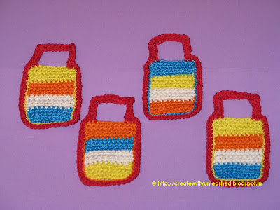 Crochet Tiffins lunch box