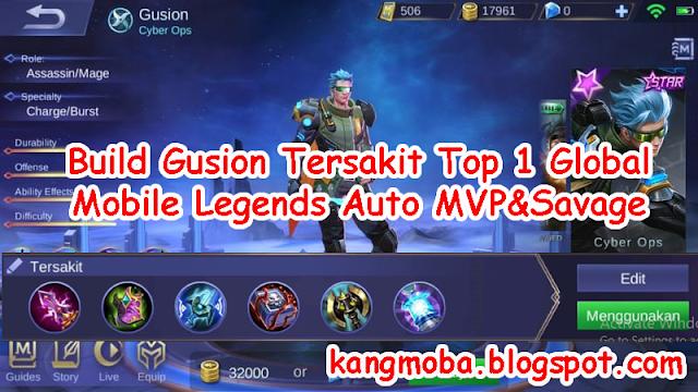 Build Gusion Tersakit Top 1 Global (S10) Auto MVP