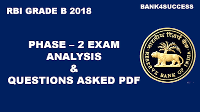 Questions Asked in RBI GRADE B 2018