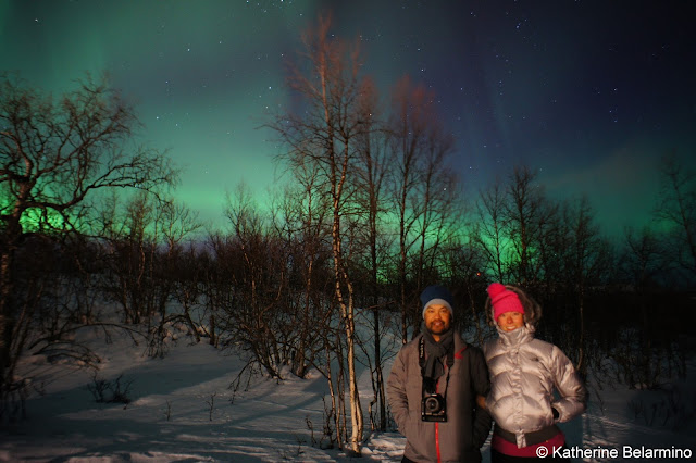 Nothern Lights Selfie Portrait Travel the World