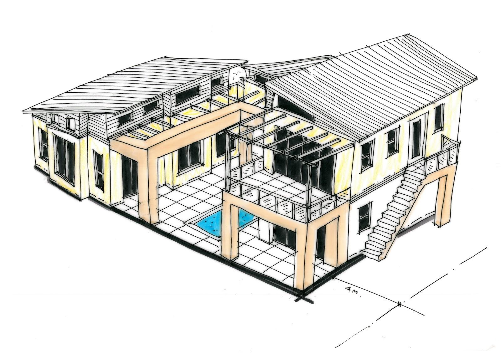 conceptual design sketches for central africa - Conceptual Design House