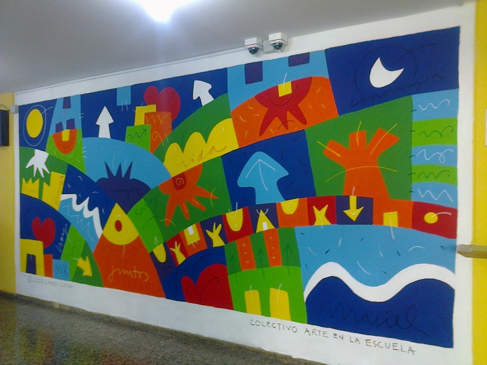 Arte en la escuela intervenciones artisticas muralismo for Arte colectivo mural