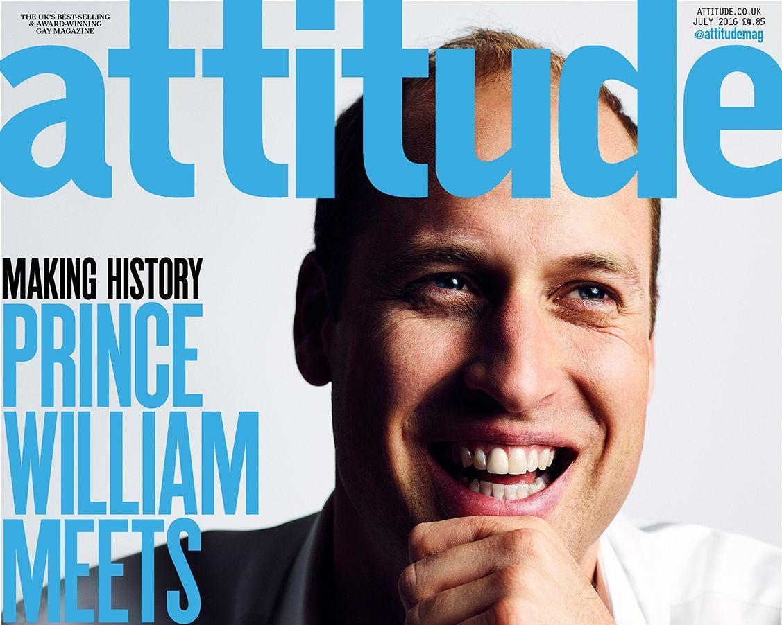 Príncipe William faz apelo contra homofobia em capa de revista LGBT