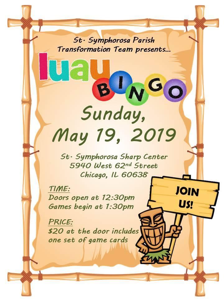 Southwest Chicago Post: Luau Bingo Coming Up at St  Sym's