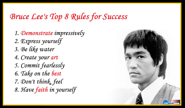 Bruce Lee Top 8 Inspiring Rules for Success
