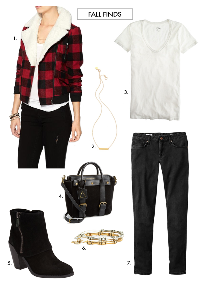 plaid, buffalo, black skinny, crossbody bag, booties, what to wear fall, how to wear plaid