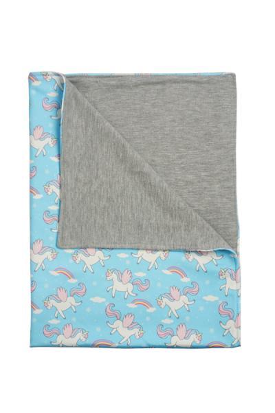 Baby Blanket Selimut Bayi Blue Unicorn Blanket