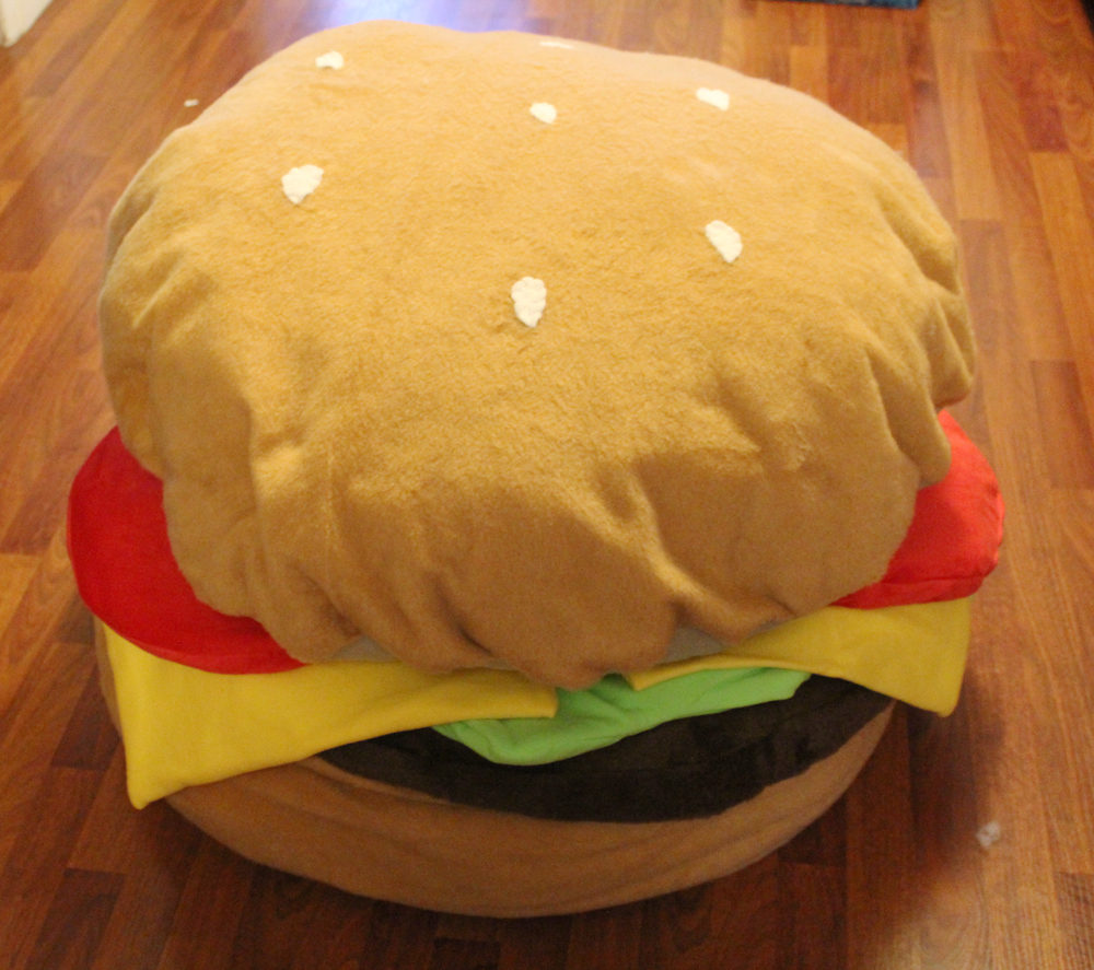 I Made For You Hamburger Bean Bag