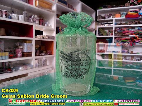 gelas sablon bride groom harga murah
