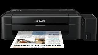 printer epson l300 lampu tinta nyala