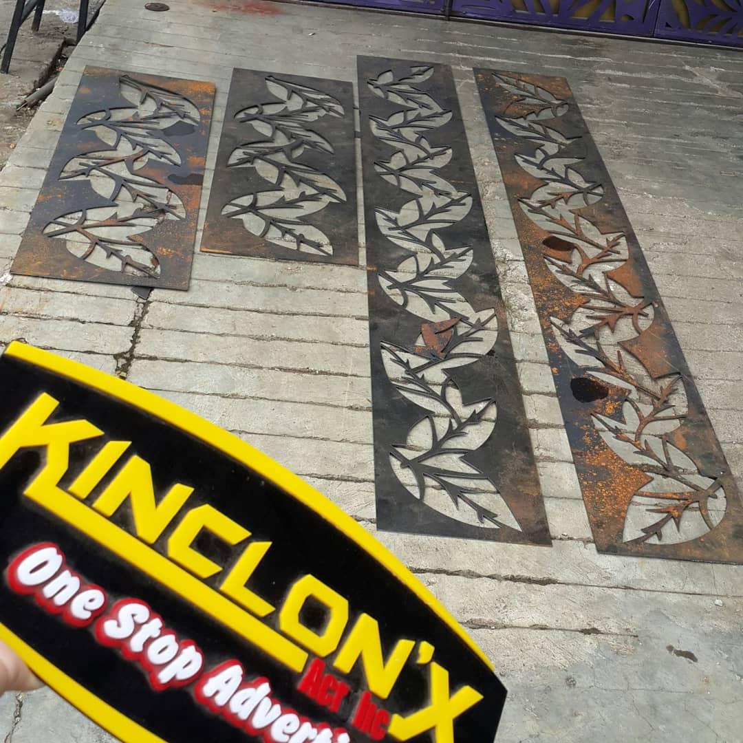 CUTTING PLAT BESI ~ PT. KINCLONX ACRYLIC INDONESIA.