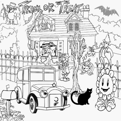 Cool stuff to color zombie ghost coloring book pages to print Halloween activities for kids learning