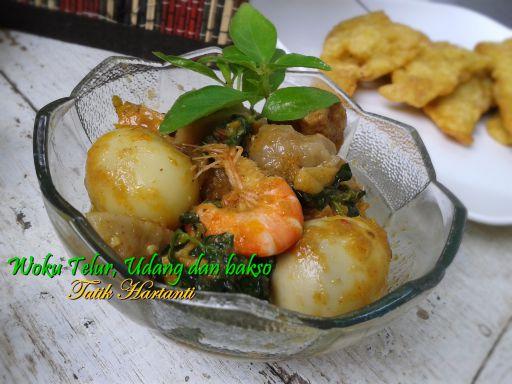Woku Telur,udang dan telur serasa ayam ala Butania