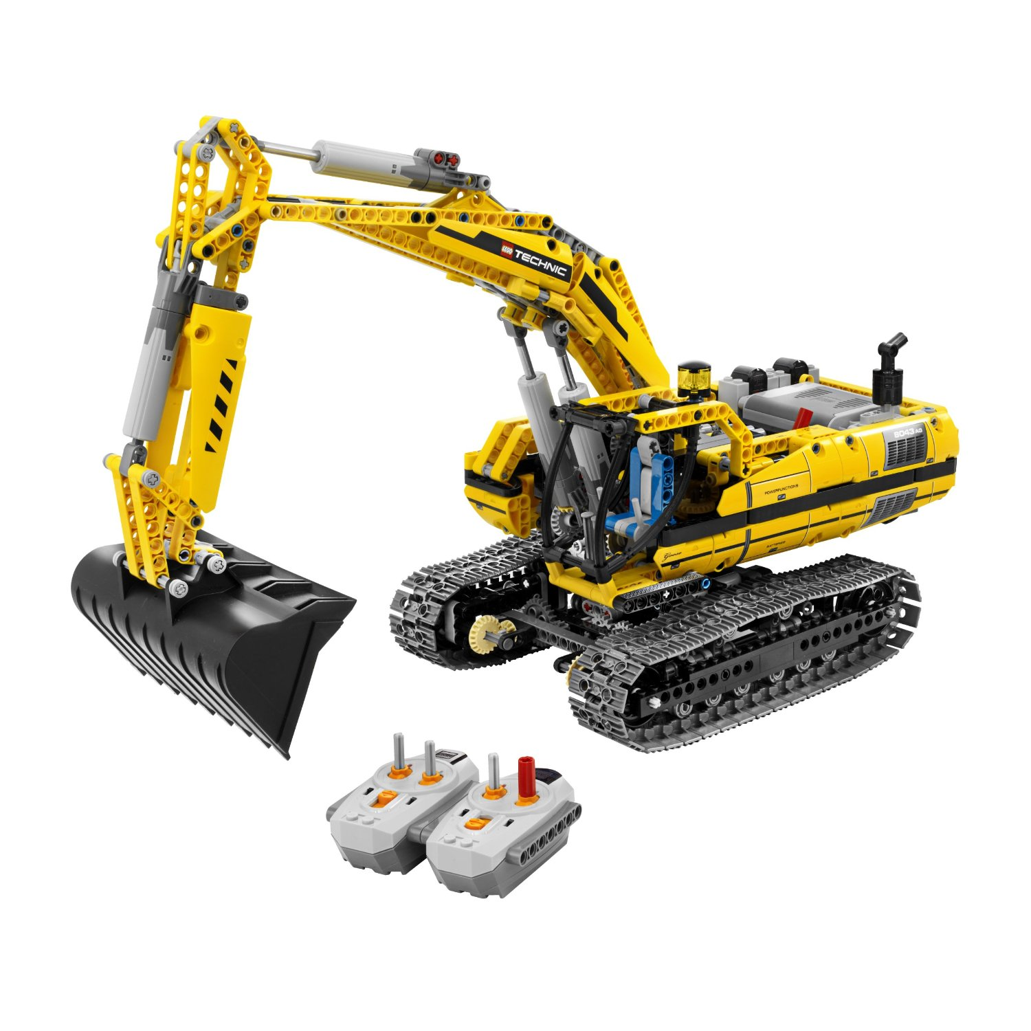 lego image lego technic motorized excavator 8043. Black Bedroom Furniture Sets. Home Design Ideas