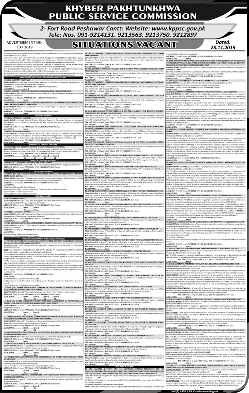 KPPSC Jobs December 2019 (350 Posts)