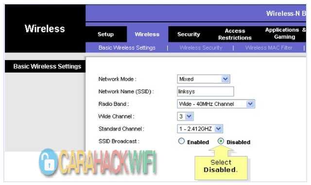 Menyembunyikan SSID atau Hide Nama WIFI