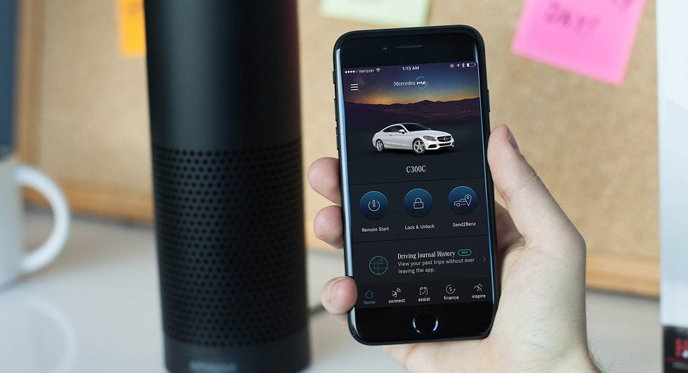 Your Google Home or Amazon Echo can now start a Mercedes