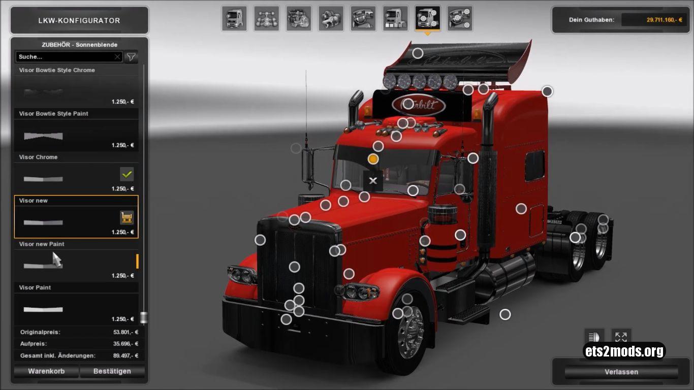 Modified Peterbilt 389 truck mod 2.0.8