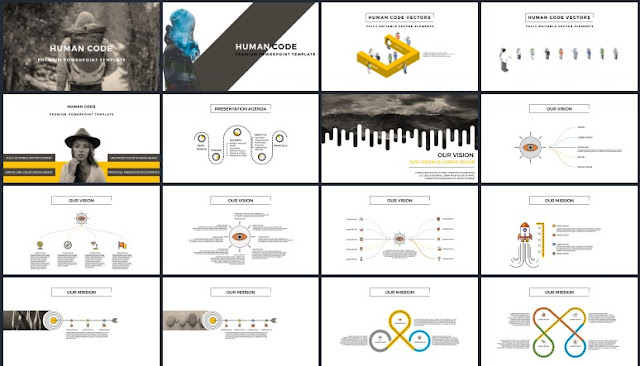 Multi Purpose Vector Type Free PowerPoint Template