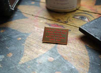enamel pin, thread famous
