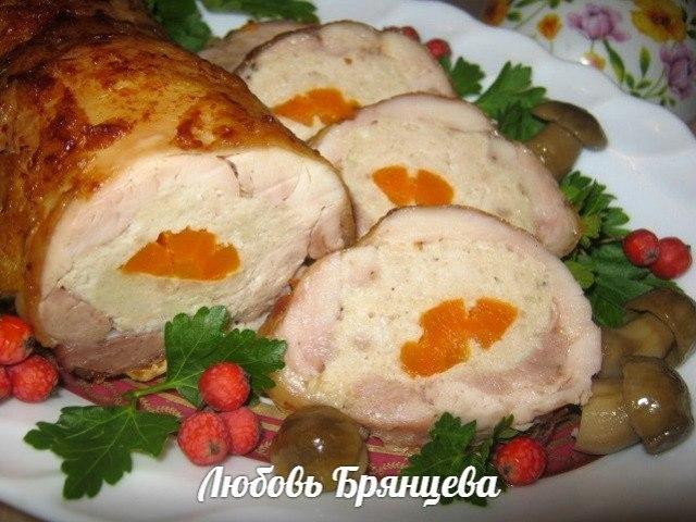 рулет из куриных окорочков пошаговое приготовление с фото
