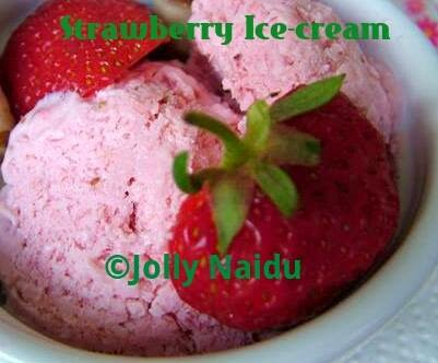 Homemade Strawberry Ice-cream | Strawberry Kulfi