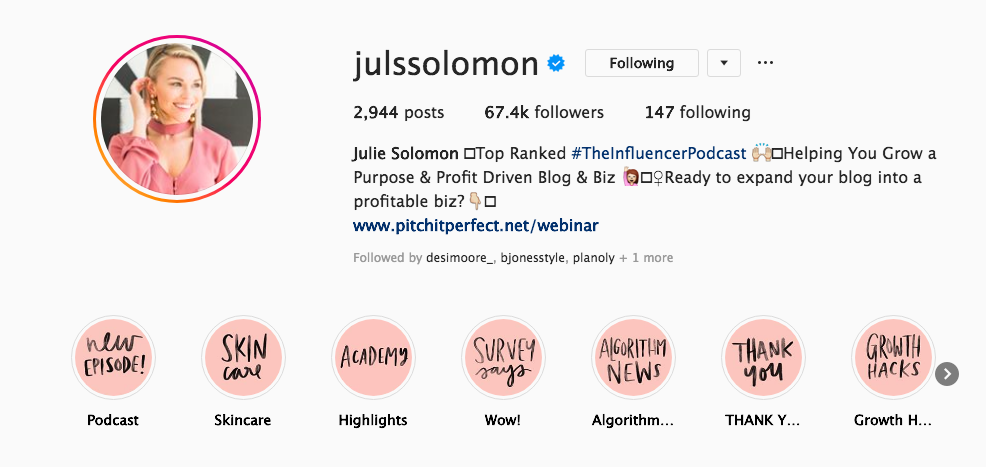 how to become a micro influencer with Julie Solomon