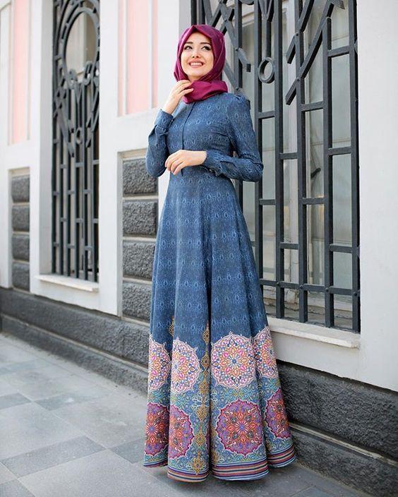 Model Baju Batik Kerja Muslimah Terbaru: 25+ Model Baju Gamis Muslimah Masakini Untuk Pesta Dan