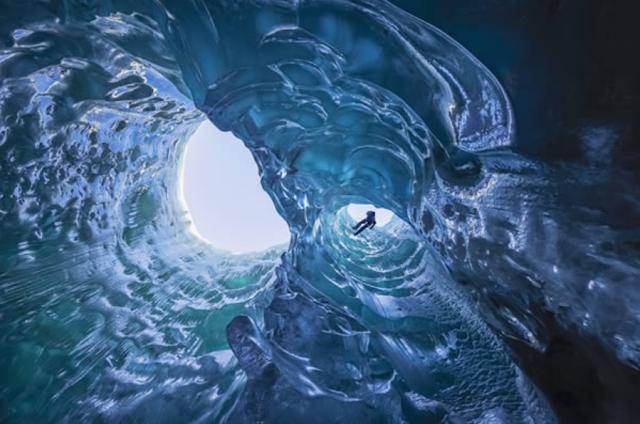 Gambar, Foto, Image, Goa Mendenhall di Alaska