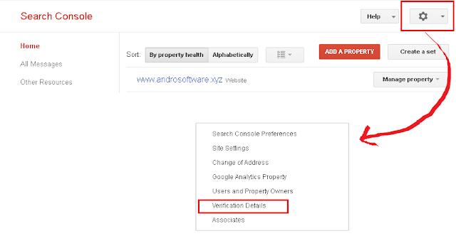 Verifikasi Blog di Webmaster Google