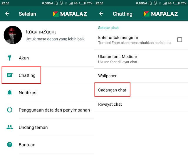 2. Cara Back-Up Data WhatsApp Ke Google Drive