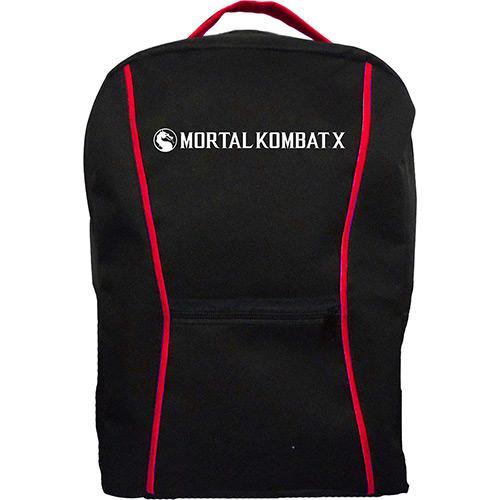 Mochila Mortal Kombat preta e vermelha