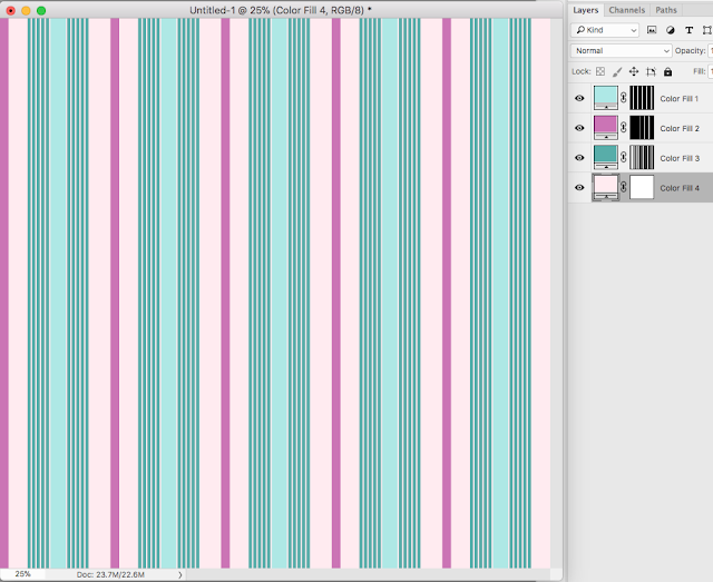 "CoffeeShop ""Stripes"" Custom Digital Paper and Photoshop/PSE Pattern Set!"