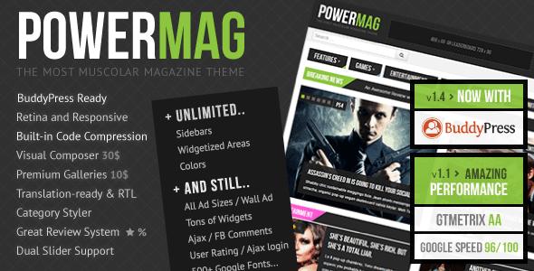 قالب PowerMag