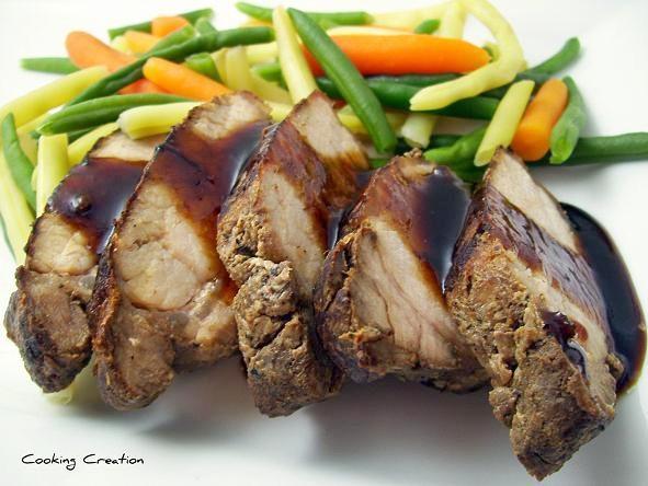 Cooking Creation Roasted Pork Tenderloin With Bourbon Bbq