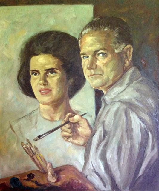 Luis Alvarez de Lugo, Self Portrait, Portraits of Painters, Fine arts, Portraits of painters blog, Paintings of Luis Alvarez de Lugo, Painter Luis Alvarez de Lugo