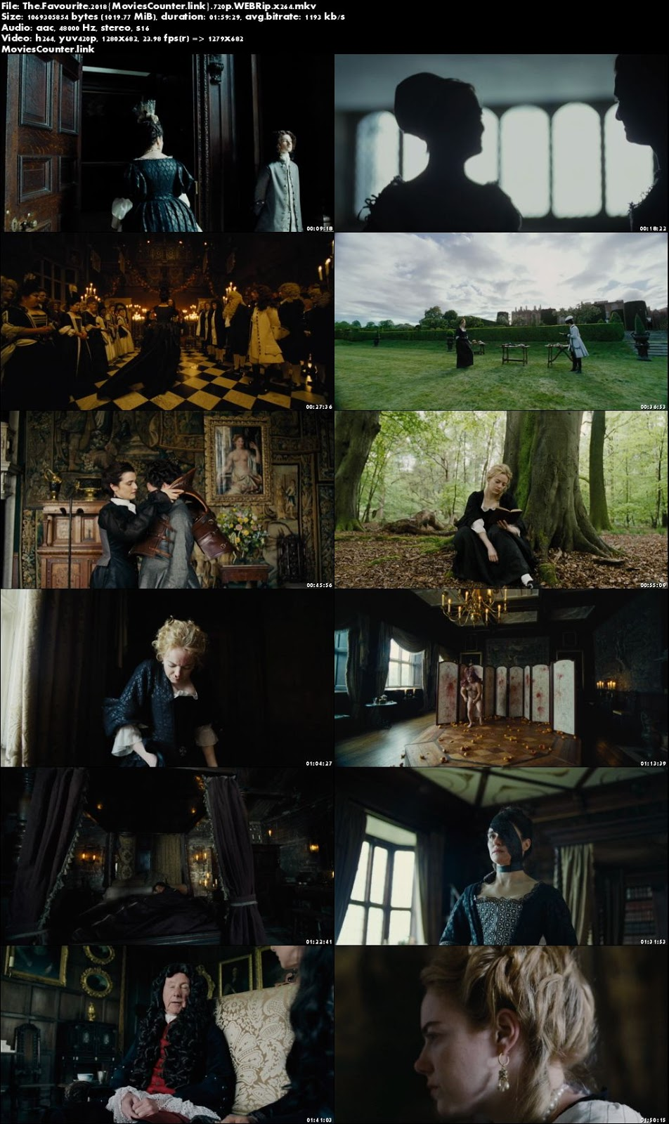 Screen Shot The Favourite 2018 English HD 720p