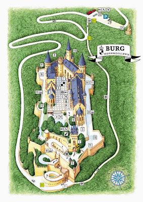 霍亨索倫城堡地圖