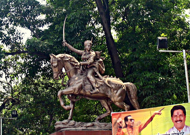 statue of Jhansi ki Rani in Pune