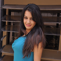 hot sexy New actress deeksha panth in blue dress photos gallery