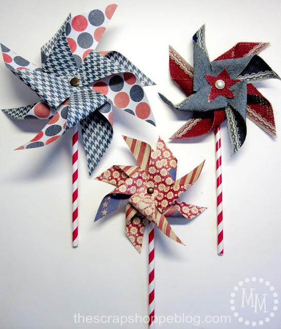 Patriotic Pinwheels finished