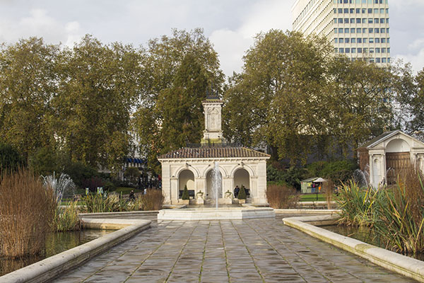 Hyde Park, London, fall, blog, post, photos, photography, park, jardin italien, italian garden,