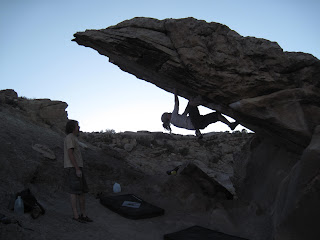 Bouldering near the Colorado National Monument in Colorado