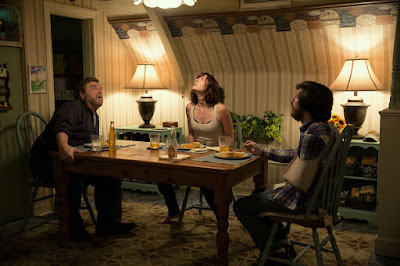 John Goodman, Mary Elizabeth Winstead, and John Gallagher Jr in 10 Cloverfield Lane