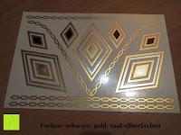 richtige Farbe: Original FLASH TATTOOS - Die beliebten Gold Tattoos der Stars aus USA - Temporäre Tattoos (Dakota)