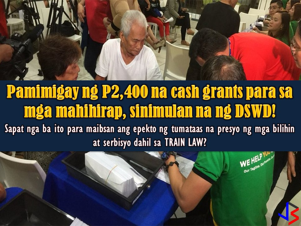 The distribution of unconditional cash transfer program (UCCP) of Department of Social Welfare and Development (DSWD) has started. The poor senior citizens from San Fernando, Pampanga are the ones who received first the payout. This is a part of the measure of the government to ease the inflationary impact of the tax reform law (TRAIN Law) on poor families.