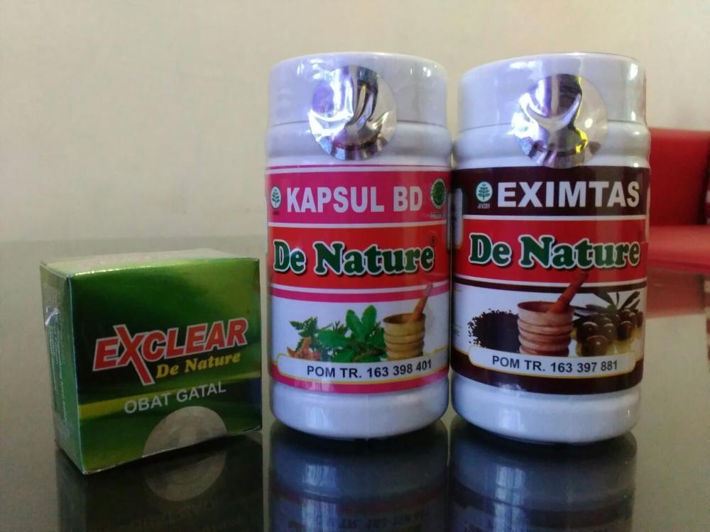 Obat Gatal Kulit Herbal de Nature bersih darah BD eximtas exclear