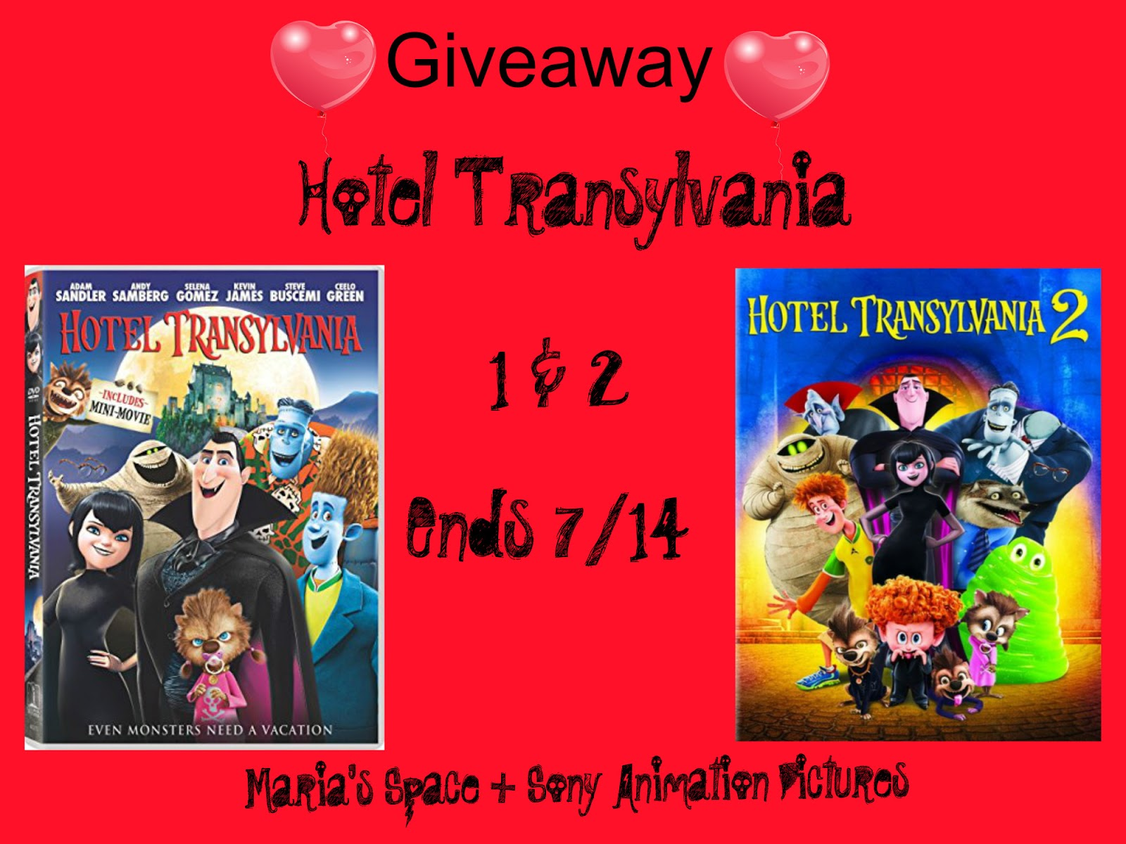 Hotel Transylvania 1 2 DVD Prize Pack GIVEAWAY HotelT3