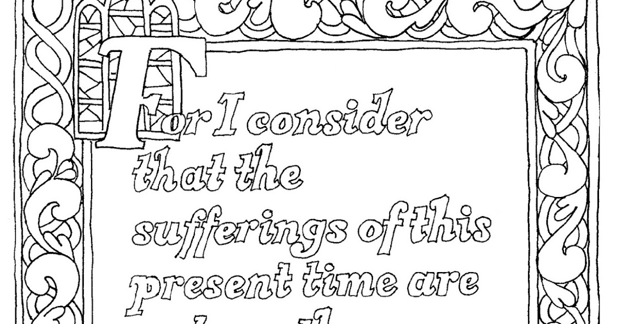 Coloring Pages for Kids by Mr. Adron: Romans 8:18 Free