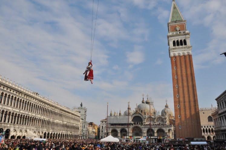 Carnevale di Venezia 2019: anticipato il Volo dell'Aquila